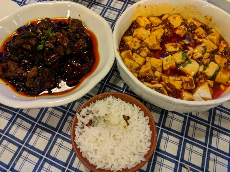 Mapo tofu, spicy & numbing tofu with meat - one of my favorites.